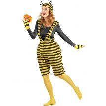 Déguisement salopette peluche abeille adulte