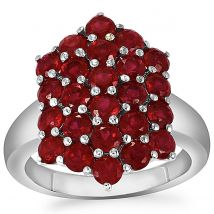 Madagascan Ruby Ring in Sterling Silver 4.90cts (F)