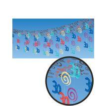 30. Geburtstag Deckendeko Party-Deko bunt 365x30cm - Thema: Geburtstag und Jubiläum - Blau