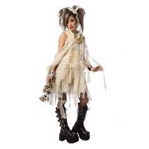 Gothic-Mumie Halloween Damenkostüm creme