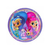 Partyteller Shimmer and Shine 8 Stück 23 cm