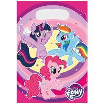 My little Pony Geschenketüten 8 Stück bunt 23 x 16,5 cm - Thema: Geburtstag und Jubiläum - Rosa/Pink