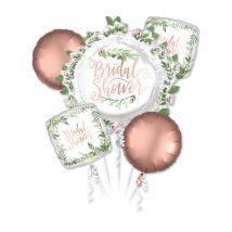Folienballon-Strauß Raumdekoration weiss-rose-gold - Thema: Hochzeit - Weiß