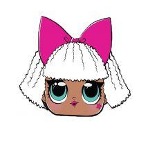 Diva-Maske LOL Surprise für Kinder bunt - Thema: Geburtstag und Jubiläum - Bunt