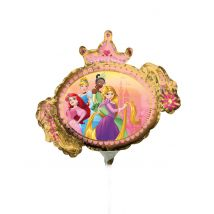 Disney Prinzessin-Luftballon kleiner Alu-Ballon Partydeko bunt 23 cm - Thema: Geburtstag und Jubiläum - Bunt