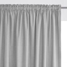 La Redoute Interieurs Tenda Bordo Arricciato Puro Cotone Scenario Grigio Taglie 180 x 135 cm