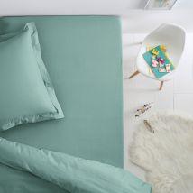 La Redoute Interieurs Sábana bajera de algodon para cama infantil SCENARIO. Talla 90 x 190 cm. Color Azul