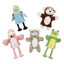 5 marionnettes multicolores - 20x27x0cm - Maisons du Monde