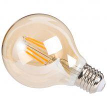 Ampoule à filament LED en verre teinté ambre - 8x12x8cm - Maisons du Monde