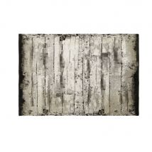 Baumwoll-Teppich in Holz-Optik 140x200 - Grau - 140x200x2cm - Maisons du Monde