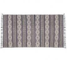 Baumwollteppich dunkelgrau und weiß 90x150 - Schwarz - 90x150x0cm - Maisons du Monde