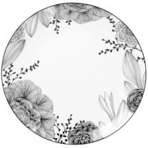 Black and White Patterned Presentation Plate - 35x35x0cm - Maisons du Monde
