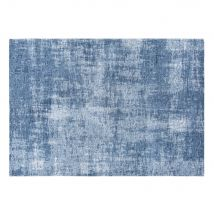 Blauer Teppich mit Jacquardmuster 140x200 - 140x200x2cm - Maisons du Monde