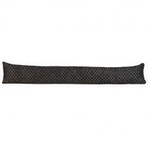 Boudin de porte en tissu noir L90 - 90x15x0cm - Maisons du Monde