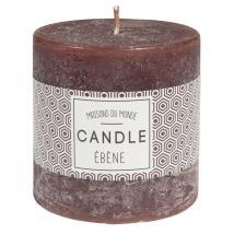 Brown cylindrical candle 7 x 7 cm - 7x7x0cm - Maisons du Monde