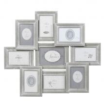 Cadre gris photo 9 vues 56 x 65 cm COLETTE - 64.5x56x3.5cm - Maisons du Monde