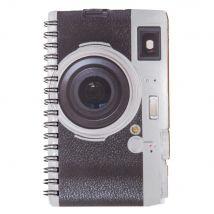 Carnet de notes à spirales imprimé appareil photo en papier - Noir - 9x15x0cm - Maisons du Monde