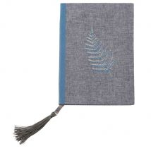Carnet de notes gris imprimé feuille en papier - Bleu - 12x17x1.5cm - Maisons du Monde