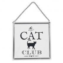 Cat Printed Decorative Metal Plaque (17x17x0cm) - Maisons du Monde