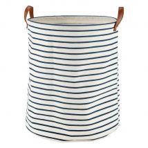 Cesta para la ropa con motivos de rayas - Azul - 36x43x0cm - Maisons du Monde