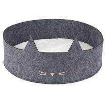 Cesta per gatto bicolore, 40 cm - Grigio - 40x12x40cm - Maisons du Monde
