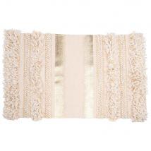 Cotton Rug with Gold Print Weave 50x80 (50x80x0cm) - Maisons du Monde