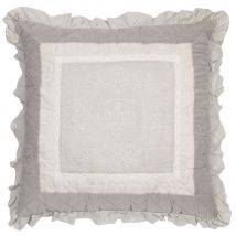 Cuscino beige ricamato 60x60 cm - Beige - 60x60x10cm - Maisons du Monde