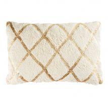 Cuscino in cotone bianco a motivi grafici dorati, 40x60 - Oro - 60x40x10cm - Maisons du Monde
