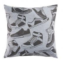 Cuscino in cotone grigio stampa scarpe da ginnastica, 40x40 cm - Grigio - 40x40x0cm - Maisons du Monde