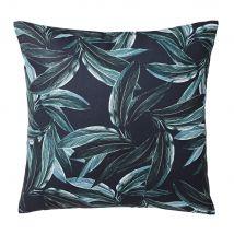 Cuscino verde scuro stampa foglie, 45x45 cm - Verde - 45x45x10cm - Maisons du Monde