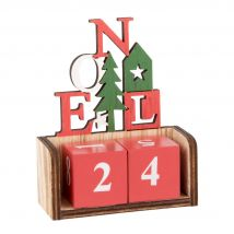 Déco de Noël calendrier cubes multicolores - Multicolore - 8.5x9x3.5cm - Maisons du Monde