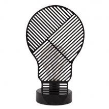 Déco lumineuse en métal noir ajouré - Noir - 14.5x25x9.5cm - Maisons du Monde