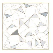 Déco murale miroir en métal doré 98x98 - 98x98x7cm - Maisons du Monde