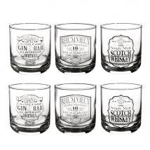 DRINKS set of 6 glasses - 25x10x35.5cm - Maisons du Monde