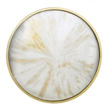 Espejo redondo convexo con efecto envejecido D.71 - Oro - 71x71x10cm - Maisons du Monde