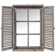 Espejo ventana de abeto 71x48 - 47.5x71x7cm - Maisons du Monde