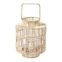 Farolillo de bambú trenzado blanqueado Alt.48 - 40.5x53x40.5cm - Maisons du Monde