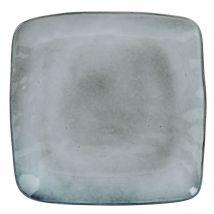 Flacher Teller aus grauer Fayence - Grau - 25x27x2cm - Maisons du Monde