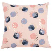 Fodera di cuscino in cotone con motivi, 40x40 cm - Blu - 40x40x0cm - Maisons du Monde
