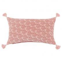 Fodera di cuscino in cotone rosa a motivi, 30x50 cm - Rosa - 30x50x0cm - Maisons du Monde