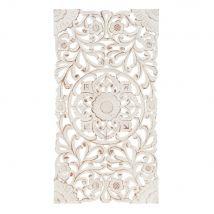 Gebleichte Wanddekoration 45x85 - Weiß - 85x45x1.5cm - Maisons du Monde
