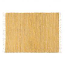 Geflochtener Teppich aus Jute und Baumwolle, gelb, 140x200 - 140x200x0cm - Maisons du Monde