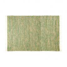 Geflochtener Teppich aus Jute und Baumwolle, grün, 140x200 - 140x200x0cm - Maisons du Monde