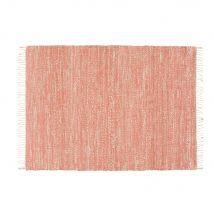 Geflochtener Teppich aus Jute und Baumwolle, terrakottafarben, 160x230 - Orange - 160x230x0cm - Maisons du Monde
