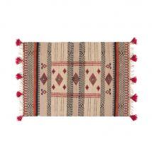 Gewebter Teppich aus Jute und Baumwolle mit grafischen Motiven 140x200 - Multicolor - 140x200x2cm - Maisons du Monde
