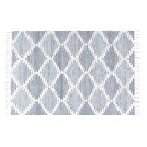 Gewebter Teppich mit grafischen Motiven 140x200 - Grau - 140x200x0cm - Maisons du Monde