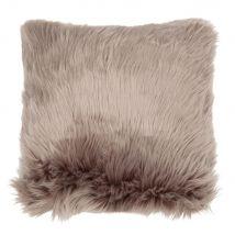 Grey Faux Fur Cushion Cover 40x40 - 40x40x0cm - Maisons du Monde