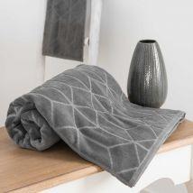 Handtuch aus anthrazitfarbener Baumwolle mit Motiven 30x50cm OP ART - Grau - 30x50x0.5cm - Maisons du Monde
