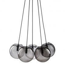 Hängeleuchte mit 5 Kugeln aus glas und Rauchglas - Grau - 58.5x125x37.5cm - Maisons du Monde