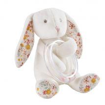 Hochet lapin blanc et rose - 12x13x12cm - Maisons du Monde